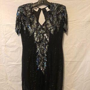 Ladies Beautiful sequined Black Dress